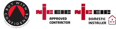 NICEIC Approved Contractor and NICEIC Domestic Installer logos